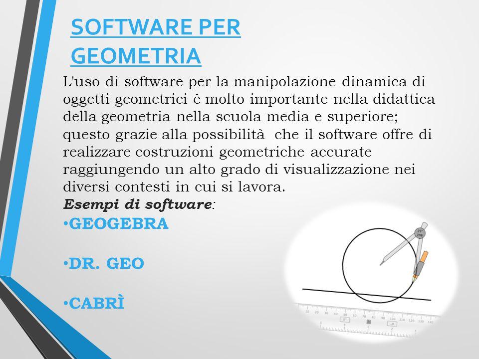 Software open source di matematica dinamica che comprende geometria piana, algebra e analisi Sviluppato in Java, dispone di versioni per Windows, Linux e Mac, sia portatili che con installazione.