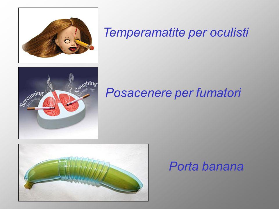 Temperamatite per oculisti Posacenere per fumatori Porta banana