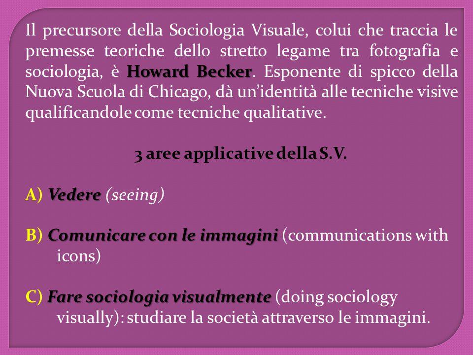 Howard Becker Il precursore della Sociologia Visuale, colui che traccia le premesse teoriche dello stretto legame tra fotografia e sociologia, è Howar