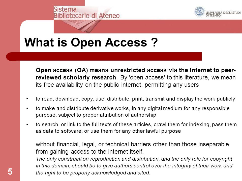5 What is Open Access .