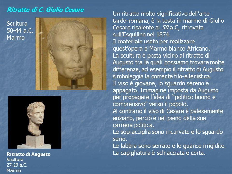 Ritratto di C.Giulio Cesare Scultura 50-44 a.C.