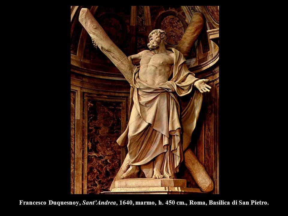 Francesco Duquesnoy, Sant'Andrea, 1640, marmo, h. 450 cm., Roma, Basilica di San Pietro.