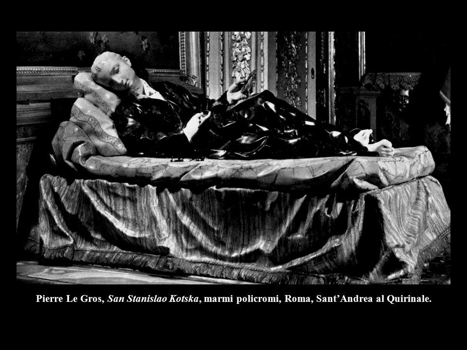 Pierre Le Gros, San Stanislao Kotska, marmi policromi, Roma, Sant'Andrea al Quirinale.