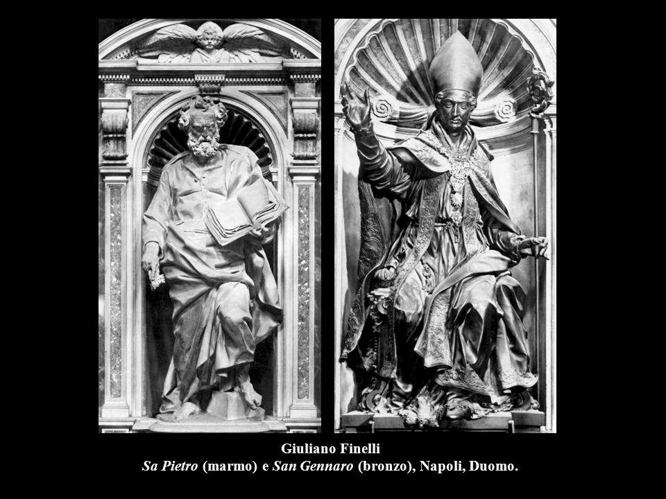 Giuliano Finelli Sa Pietro (marmo) e San Gennaro (bronzo), Napoli, Duomo.