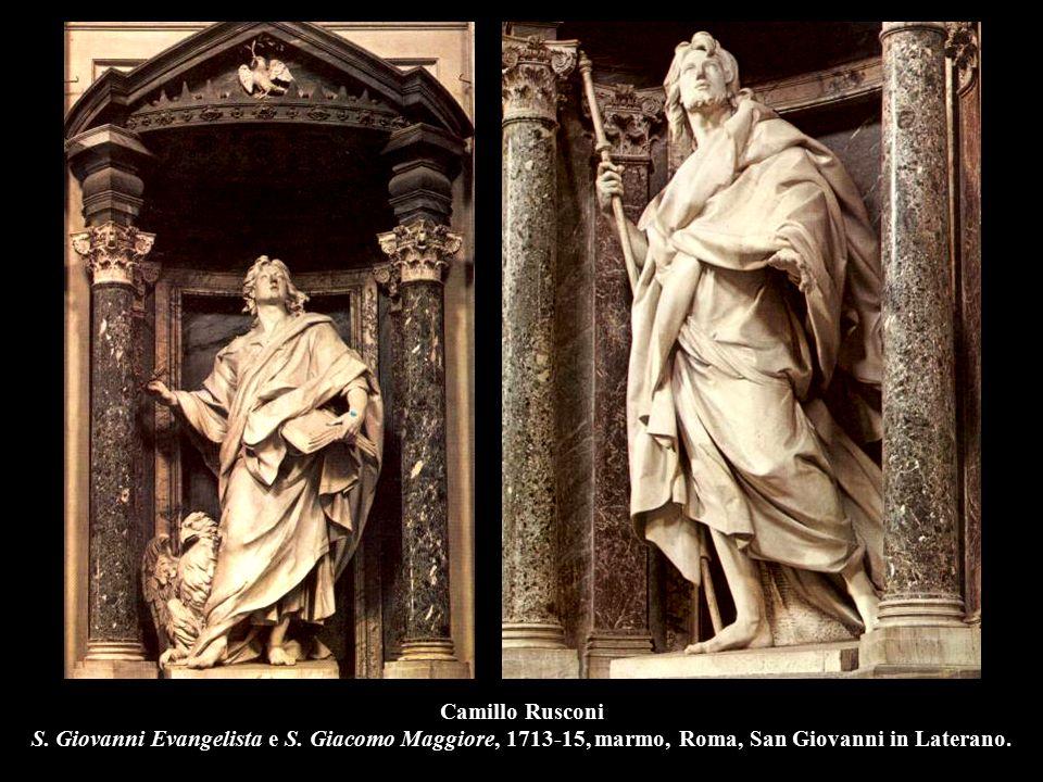 Camillo Rusconi S. Giovanni Evangelista e S. Giacomo Maggiore, 1713-15, marmo, Roma, San Giovanni in Laterano.