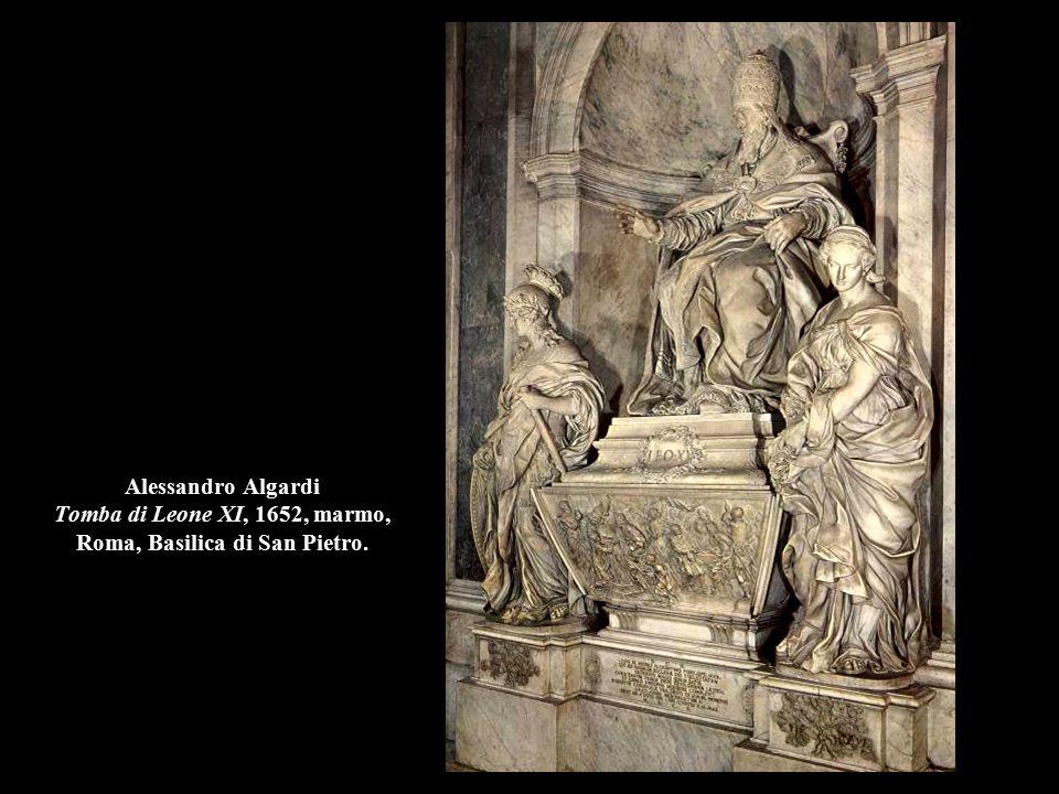 Alessandro Algardi Tomba di Leone XI, 1652, marmo (part.), Roma, Basilica di San Pietro.