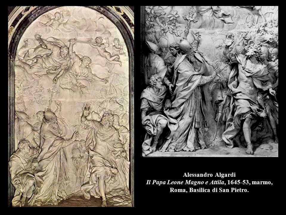 Alessandro Algardi Il Papa Leone Magno e Attila, 1645-53, (part.), Roma, Basilica di San Pietro.
