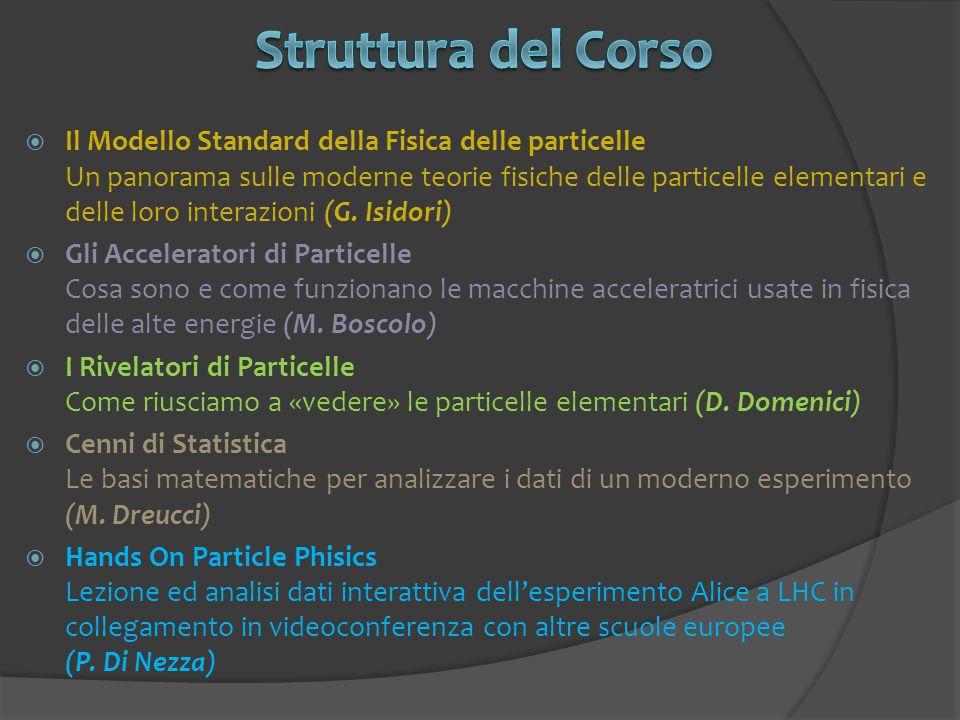  Il Modello Standard della Fisica delle particelle Un panorama sulle moderne teorie fisiche delle particelle elementari e delle loro interazioni (G.