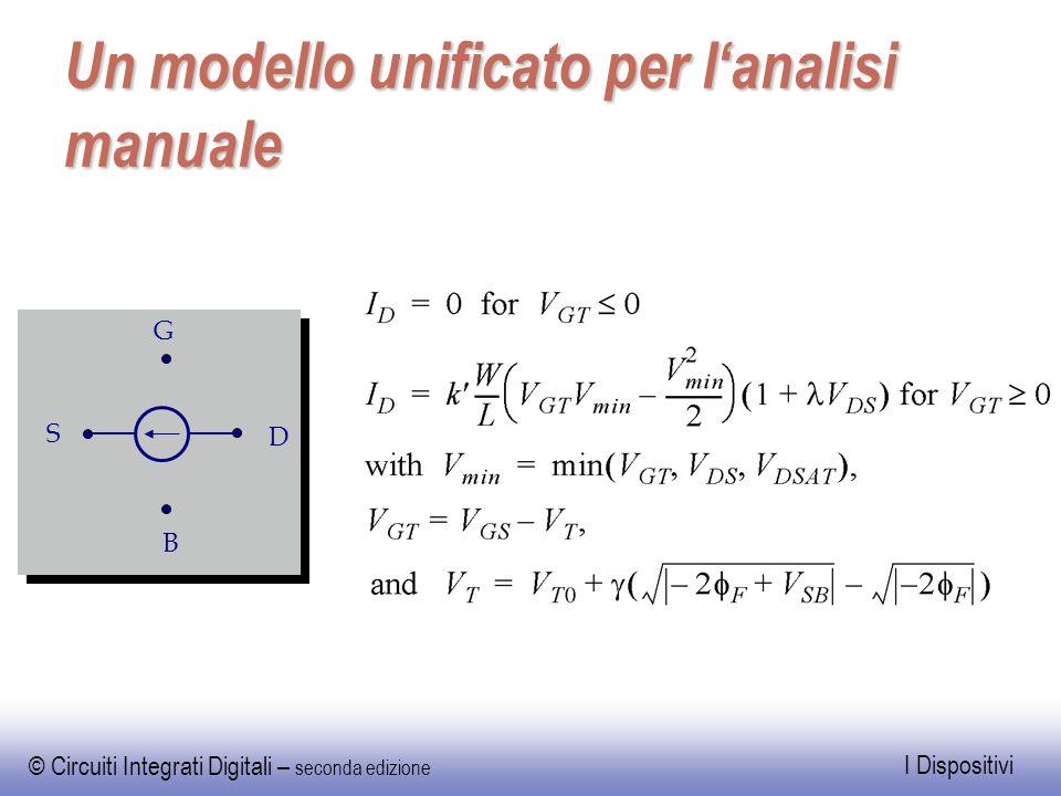 © Circuiti Integrati Digitali – seconda edizione I Dispositivi Un modello unificato per l'analisi manuale S D G B