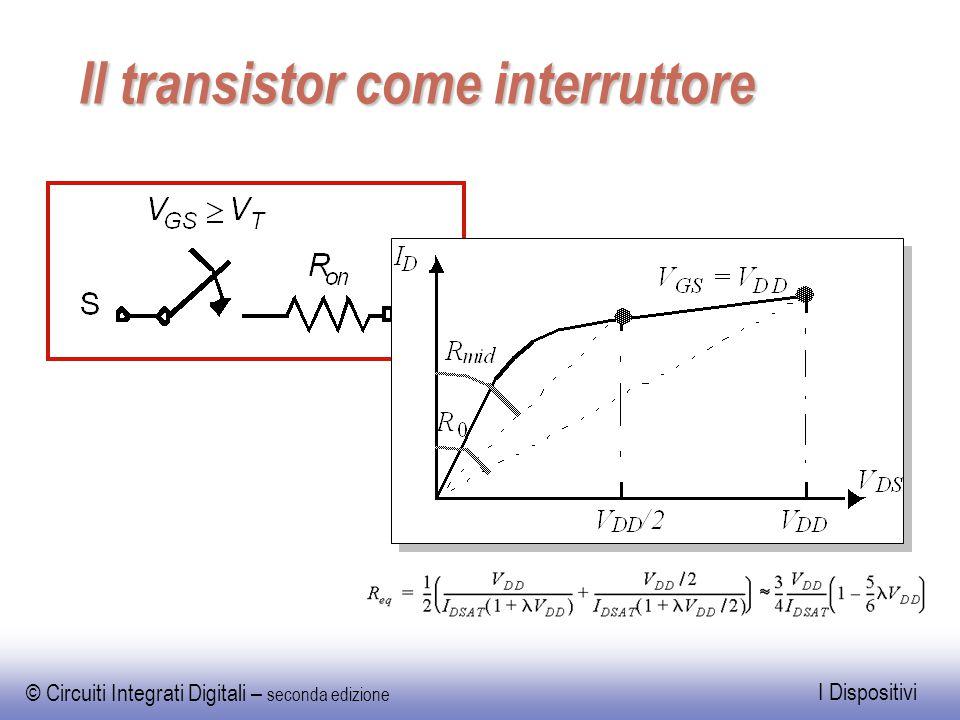 © Circuiti Integrati Digitali – seconda edizione I Dispositivi Il transistor come interruttore