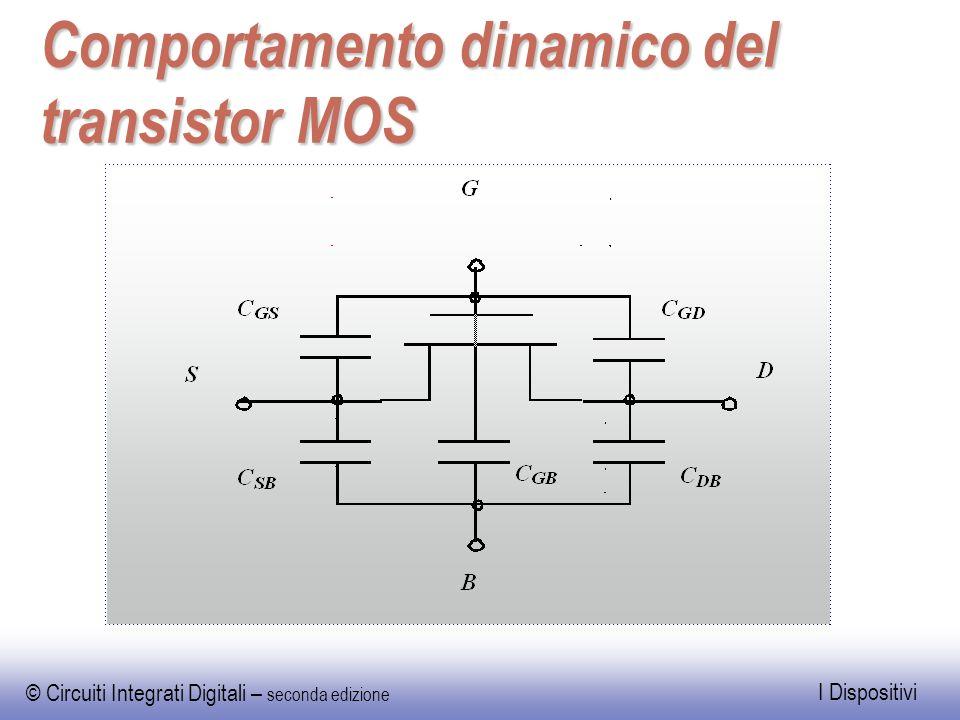 © Circuiti Integrati Digitali – seconda edizione I Dispositivi Comportamento dinamico del transistor MOS
