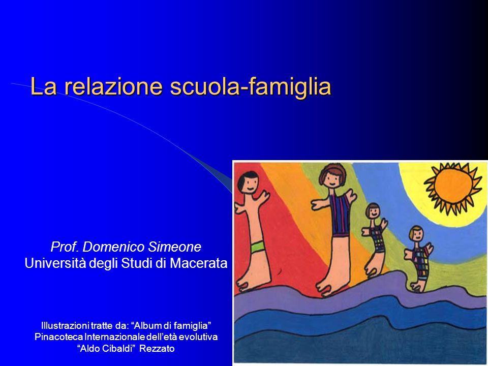 """La relazione scuola-famiglia Prof. Domenico Simeone Università degli Studi di Macerata Illustrazioni tratte da: """"Album di famiglia"""" Pinacoteca Interna"""