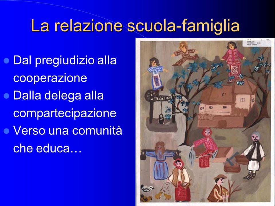 La relazione scuola-famiglia Dal pregiudizio alla cooperazione Dalla delega alla compartecipazione Verso una comunità che educa…