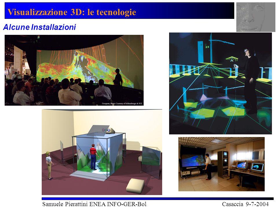Visualizzazione 3D: le tecnologie Samuele Pierattini ENEA INFO-GER-Bol Casaccia 9-7-2004 Alcune Installazioni