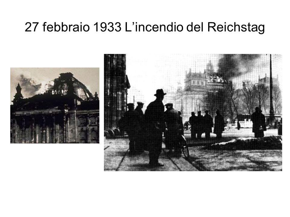 27 febbraio 1933 L'incendio del Reichstag