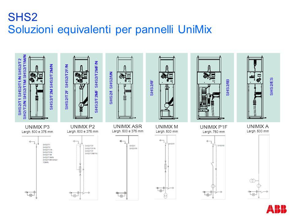 UNIMIX P3 Largh. 500 e 375 mm UNIMIX ASR Largh. 500 e 375 mm UNIMIX P2 Largh. 500 e 375 mm UNIMIX A Largh. 500 mm UNIMIX M Largh. 500 mm UNIMIX P1F La