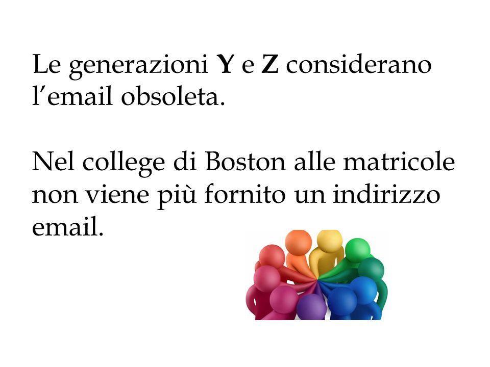 Le generazioni Y e Z considerano l'email obsoleta. Nel college di Boston alle matricole non viene più fornito un indirizzo email.