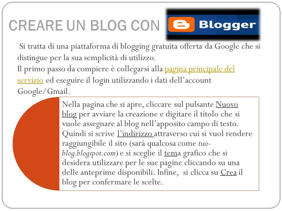 CREARE UN BLOG CON Si tratta di una piattaforma di blogging gratuita offerta da Google che si distingue per la sua semplicità di utilizzo. Il primo pa