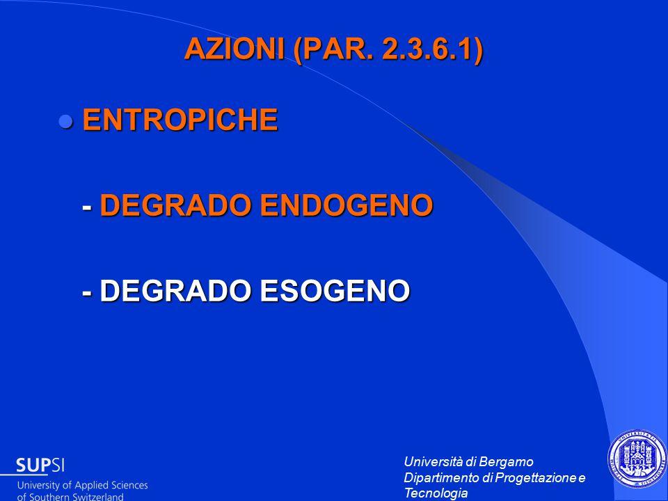 Università di Bergamo Dipartimento di Progettazione e Tecnologia AZIONI (PAR.