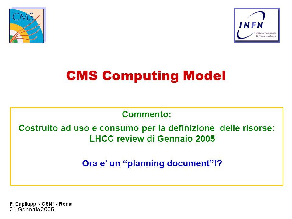 31 Gennaio 2005 P.