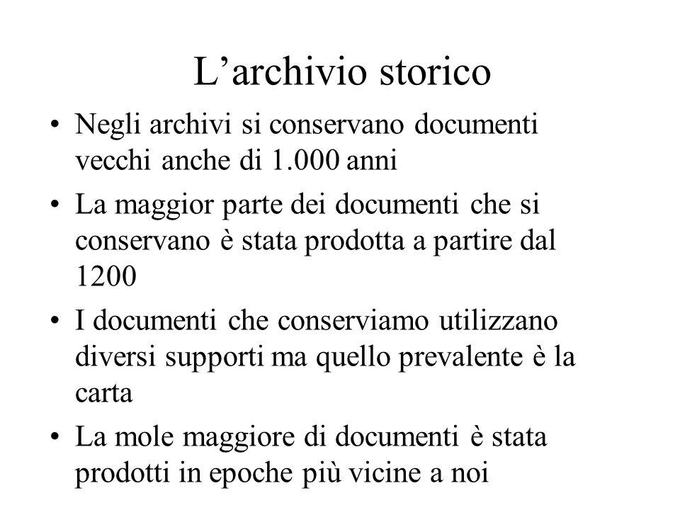 Gli archivi non conservano solo documenti scritti L'istituto LUCE: un archivio da guardareLUCE