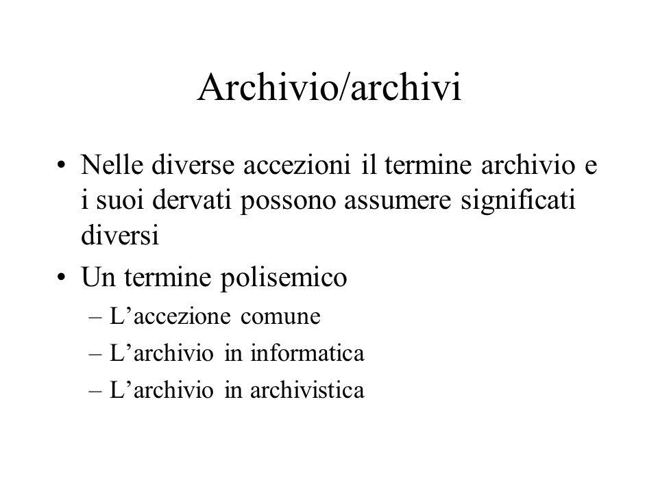 Il concetto di archivio