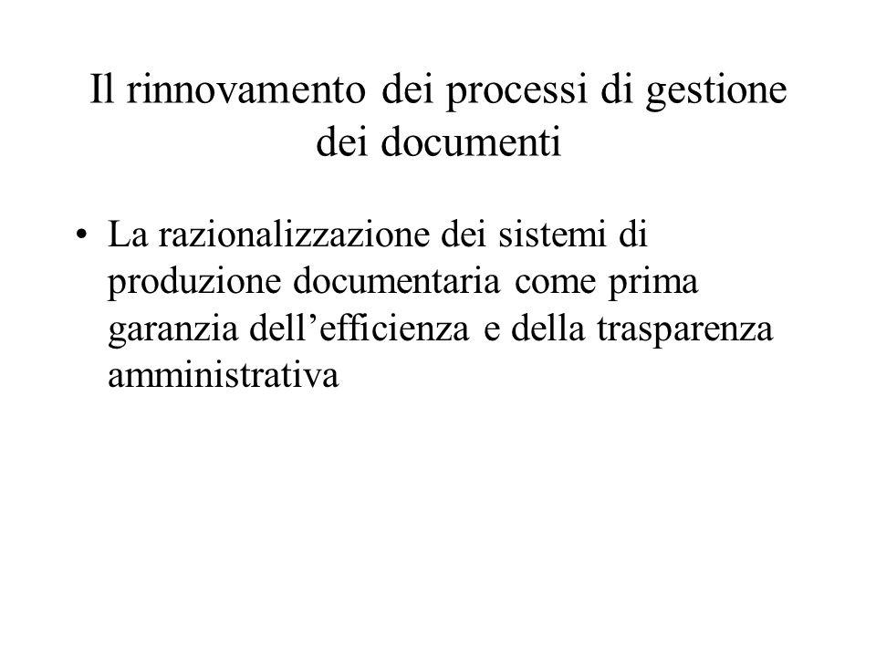 La 241/90 e l'inversione di tendenza degli anni '90 Il documento e il procedimento tornano al centro del processo amministrativo come garanzia di trasparenza e sana amministrazione