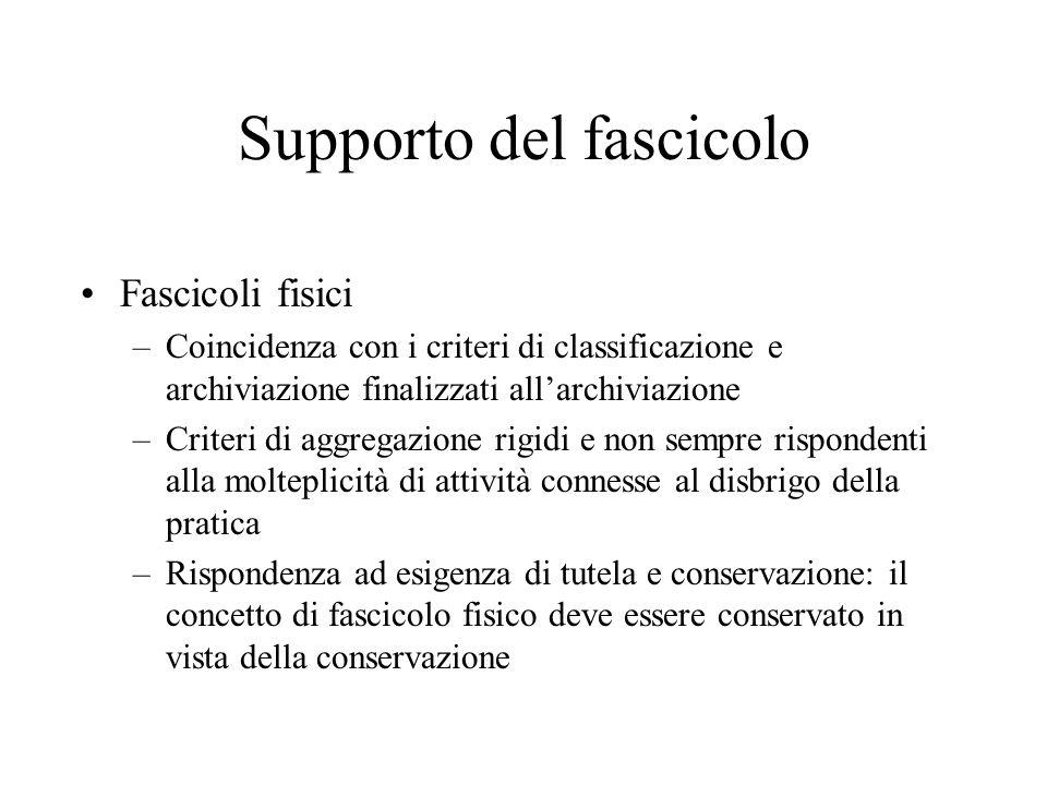 Natura del fascicolo il fascicolo, unità archivistica prevalente nell'archivio moderno, è l'aggregazione organizzata di documenti.