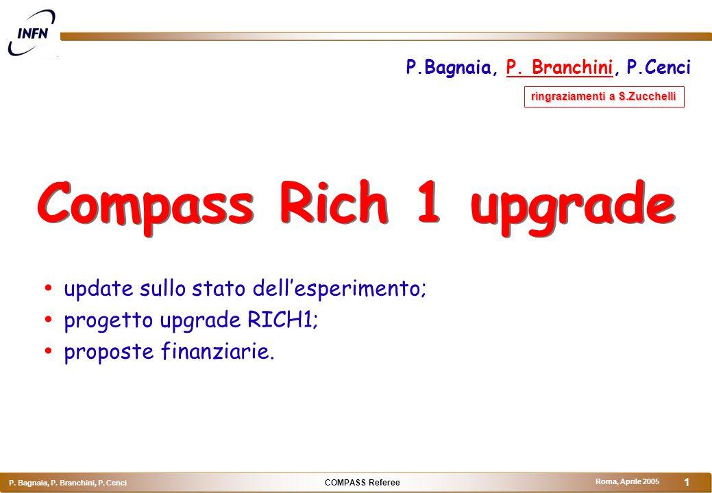 COMPASS Referee P.Bagnaia, P. Branchini, P.