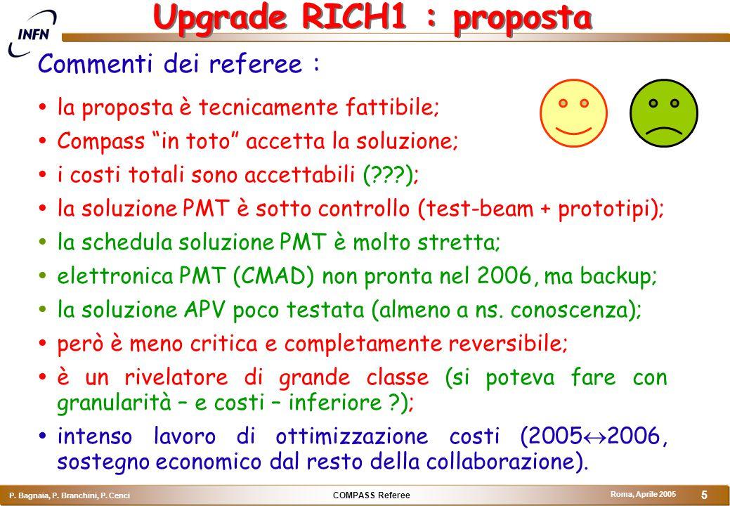 COMPASS Referee P.Bagnaia, P. Branchini, P. Cenci Roma, Aprile 2005 6 Proposta : go ahead !!.