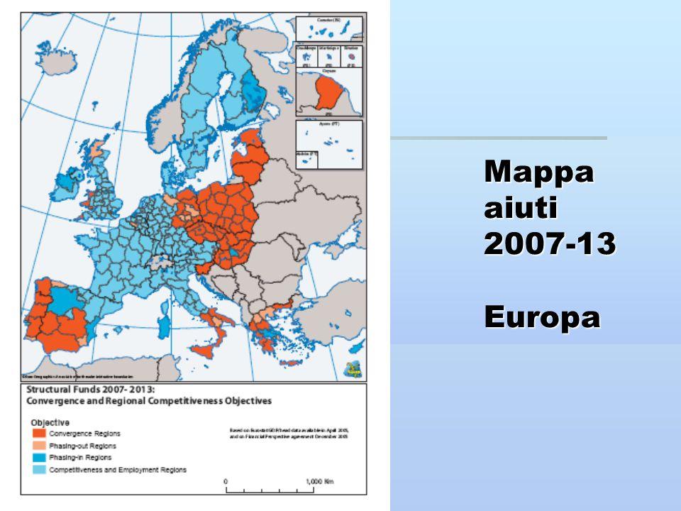 Mappa aiuti 2007-13 Europa