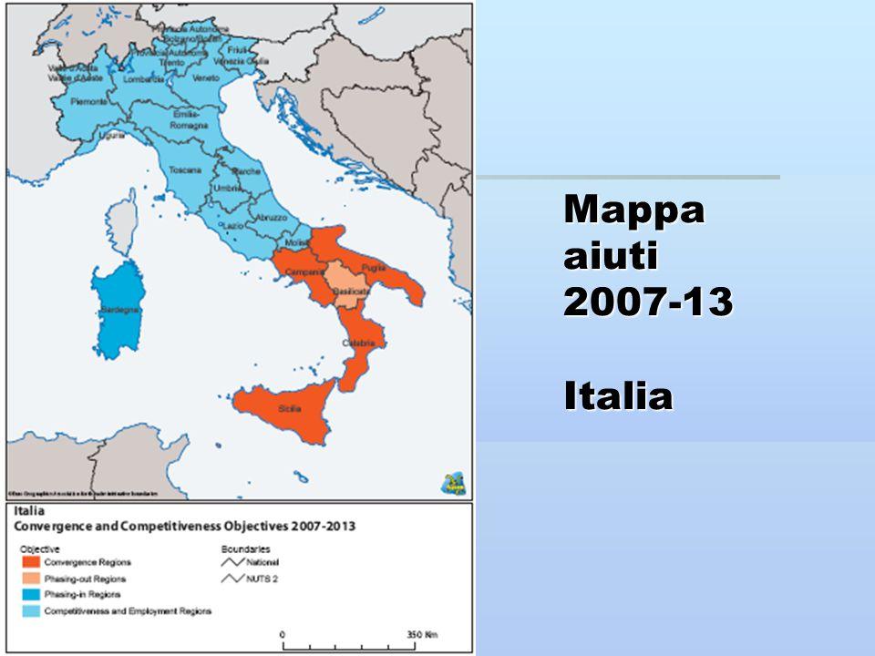 Mappa aiuti 2007-13 Italia