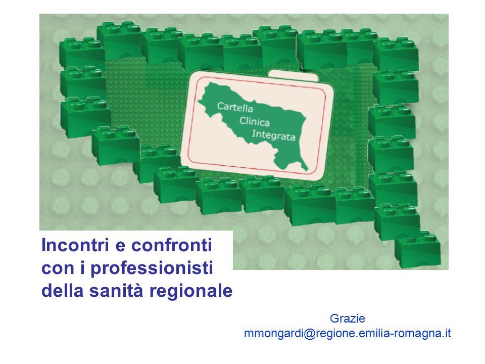 Incontri e confronti con i professionisti della sanità regionale Grazie mmongardi@regione.emilia-romagna.it
