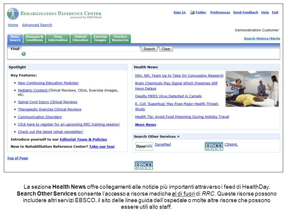 Per reperire materiale di reference relativo alla riabilitazione in RRC potete effettuare una ricerca per parola chiave o navigare i contenuti per individuare quello di interesse.