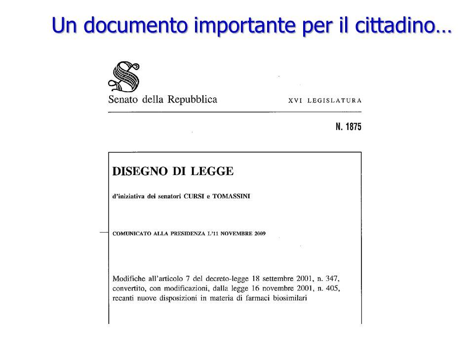 Un documento importante per il cittadino…
