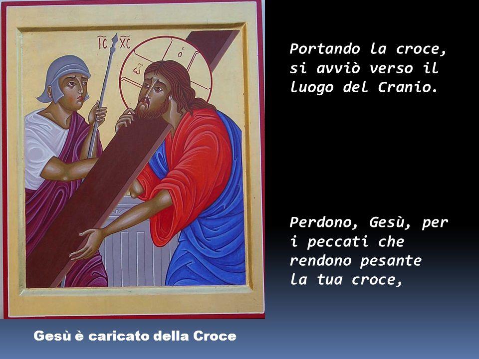 Gesù è flagellato e coronato di spine Pilato, dopo aver fatto flagellare Gesù, lo consegnò perché fosse crocifisso.