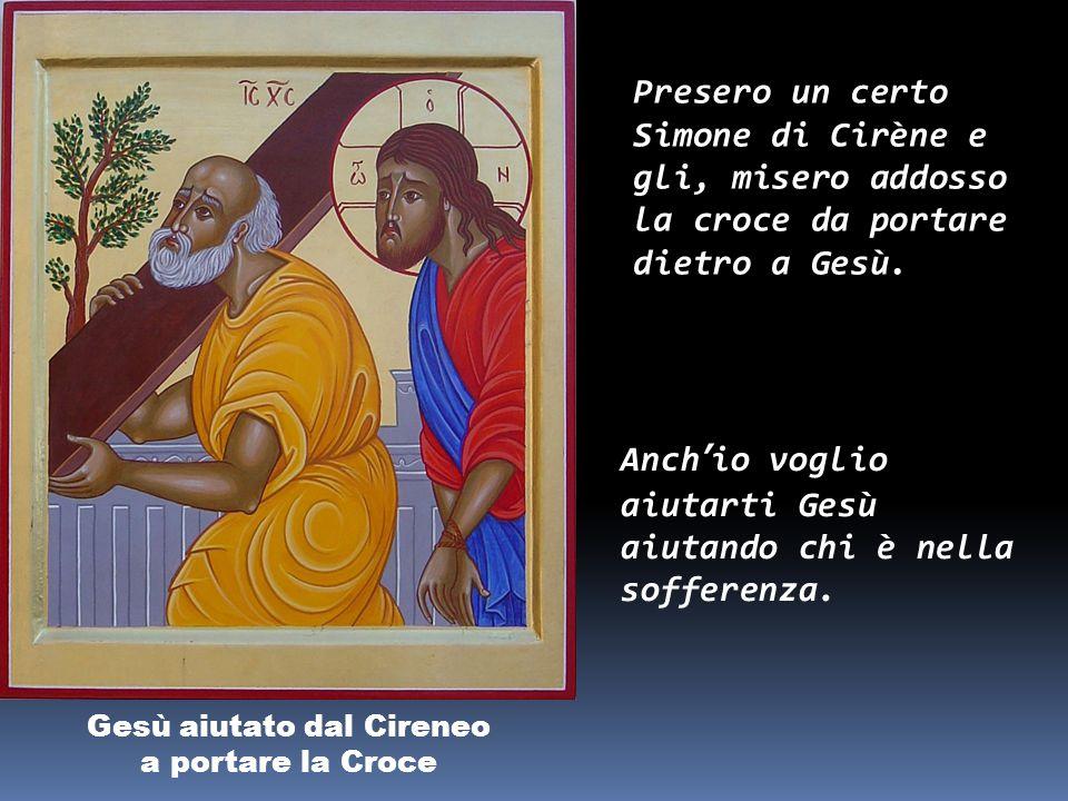 Gesù è caricato della Croce Portando la croce, si avviò verso il luogo del Cranio. Perdono, Gesù, per i peccati che rendono pesante la tua croce,