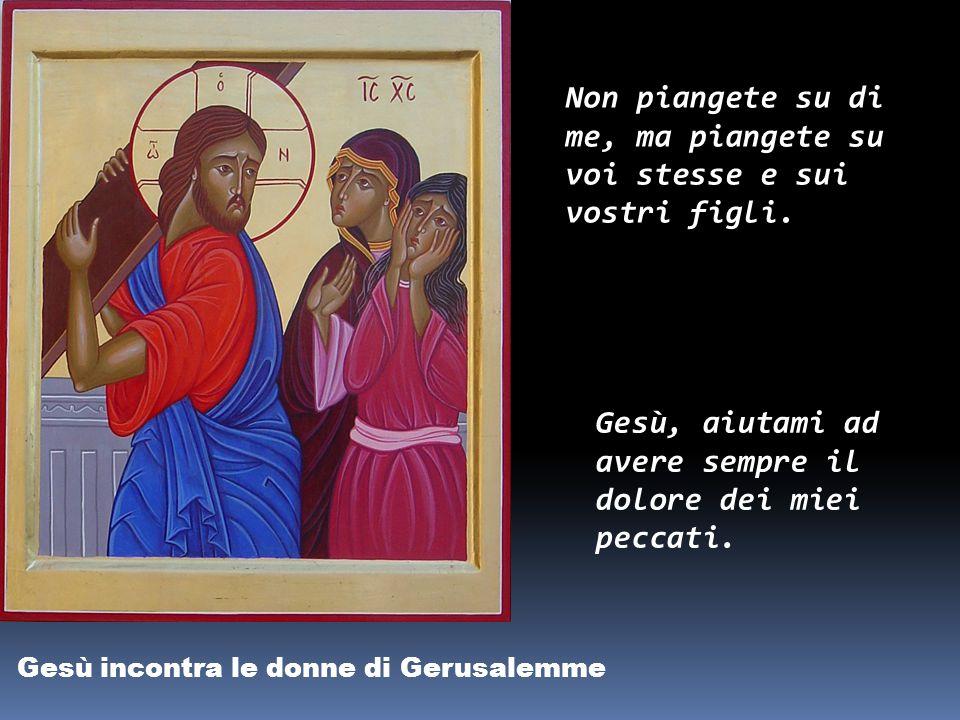 Gesù aiutato dal Cireneo a portare la Croce Presero un certo Simone di Cirène e gli, misero addosso la croce da portare dietro a Gesù. Anch'io voglio