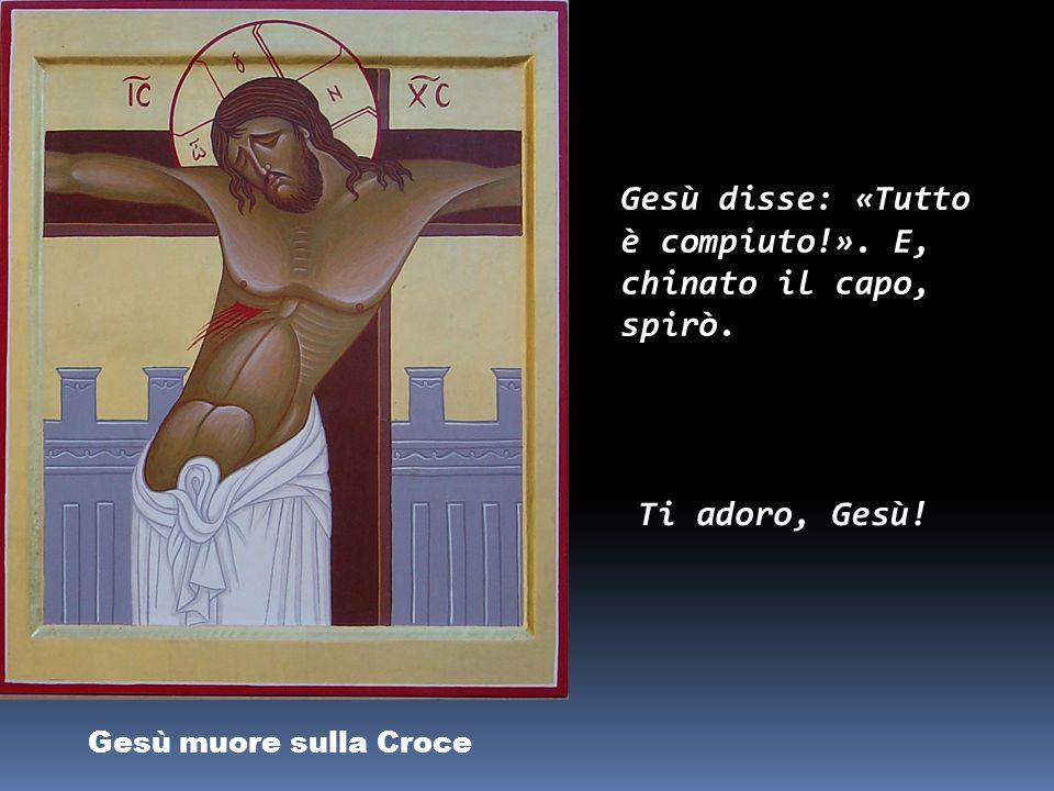 Gesù in Croce, la Madre e il discepolo «Donna, ecco il tuo figlio!». Poi disse al discepolo: «Ecco la tua madre!». Grazie Gesù, per avermi dato la tua