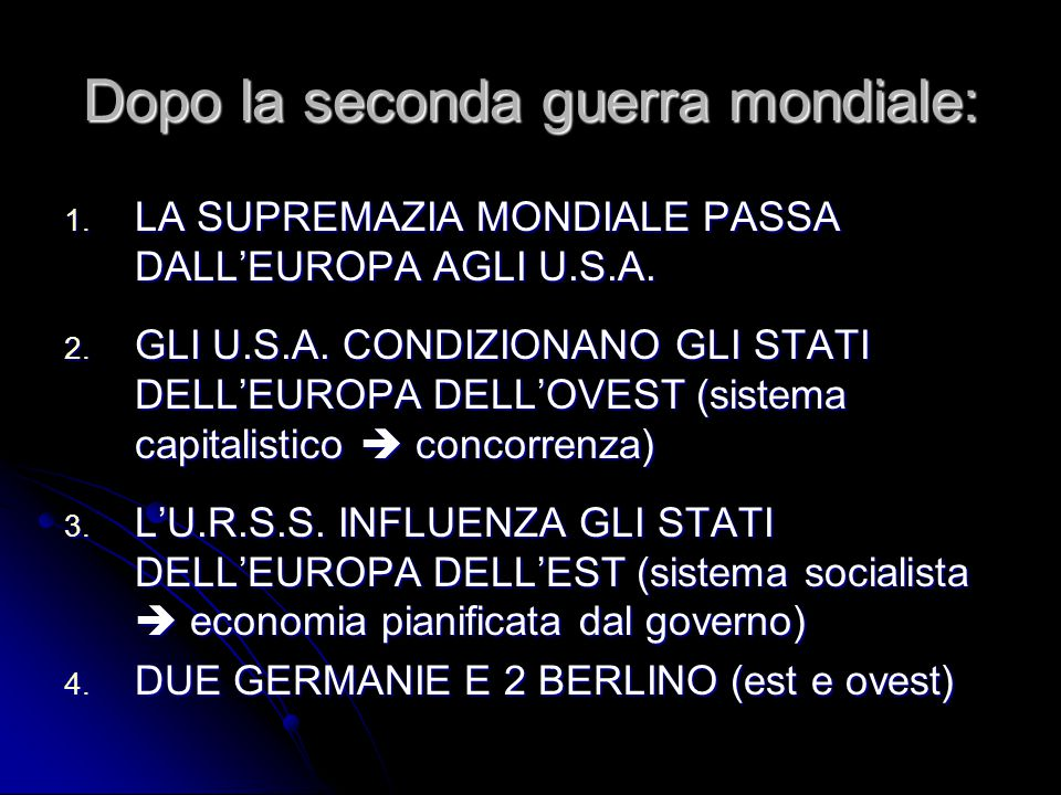 DALLA GUERRA FREDDA AI NUOVI STATI EUROPEI