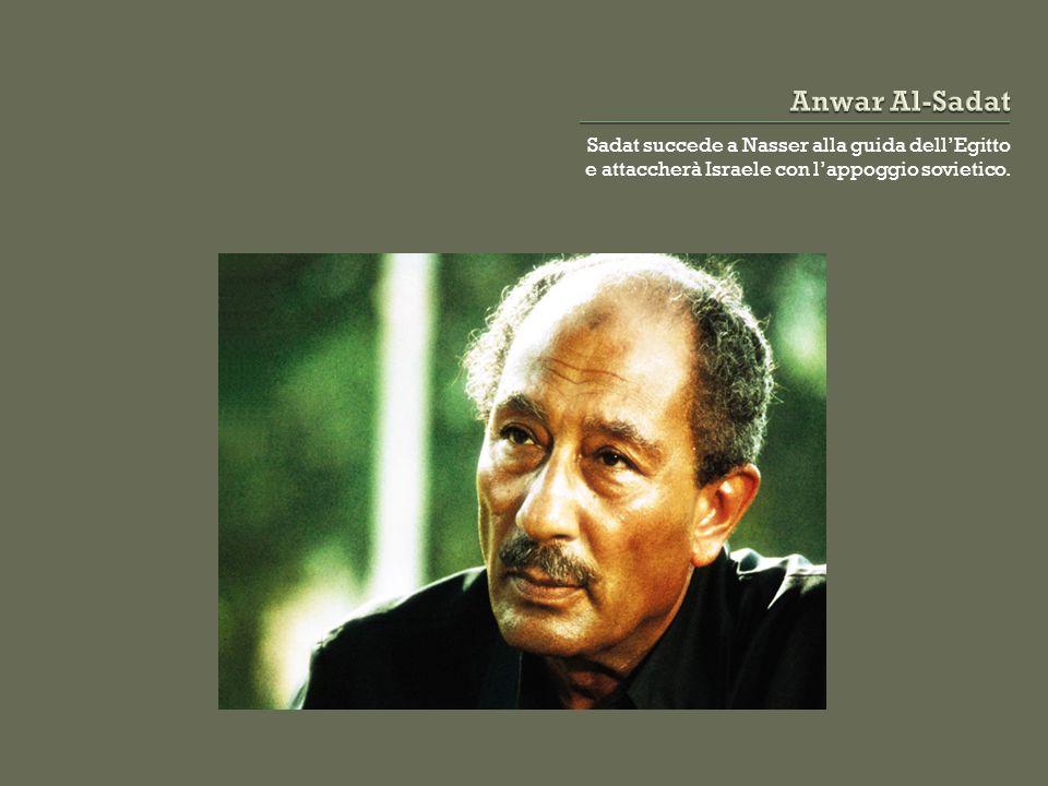 Sadat succede a Nasser alla guida dell'Egitto e attaccherà Israele con l'appoggio sovietico.