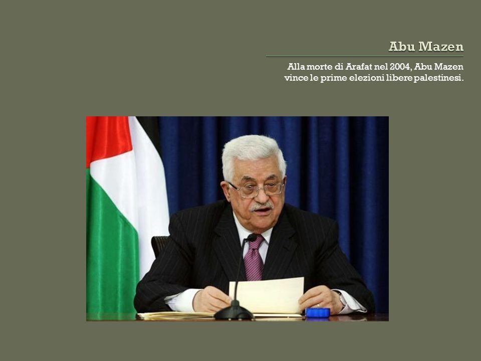 Alla morte di Arafat nel 2004, Abu Mazen vince le prime elezioni libere palestinesi.