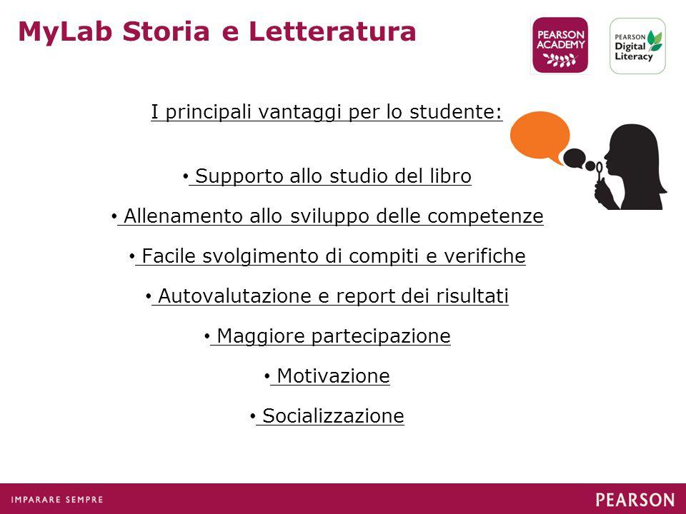 I principali vantaggi per lo studente: Supporto allo studio del libro Allenamento allo sviluppo delle competenze Facile svolgimento di compiti e verif