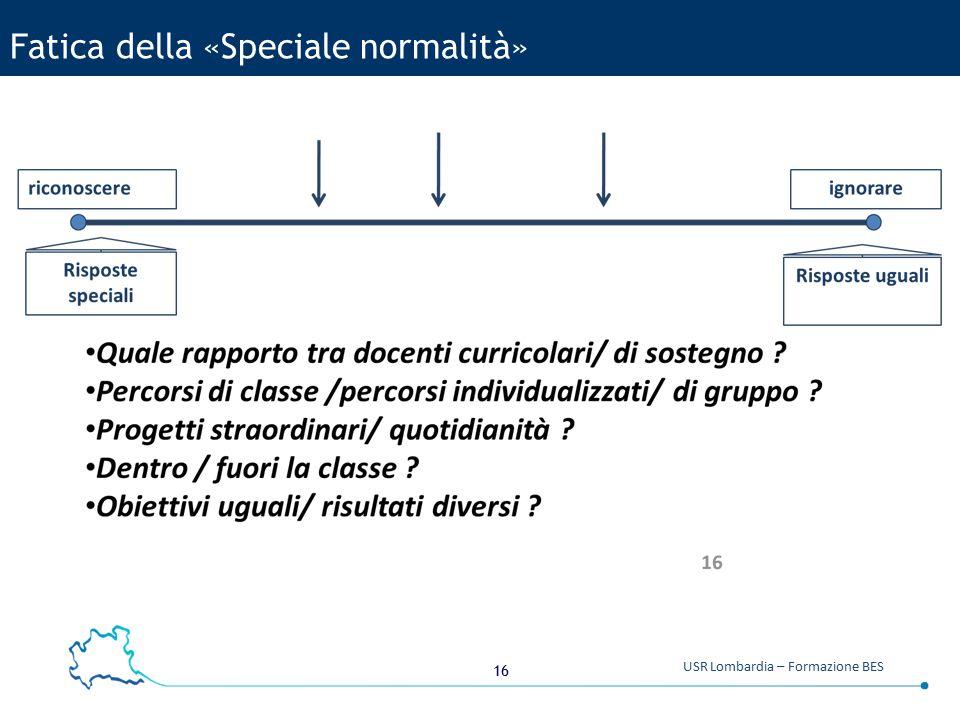 16 USR Lombardia – Formazione BES Fatica della «Speciale normalità»