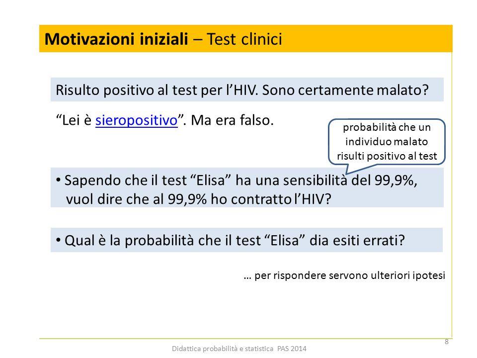 """Motivazioni iniziali – Test clinici Risulto positivo al test per l'HIV. Sono certamente malato? """"Lei è sieropositivo"""". Ma era falso.sieropositivo Sape"""