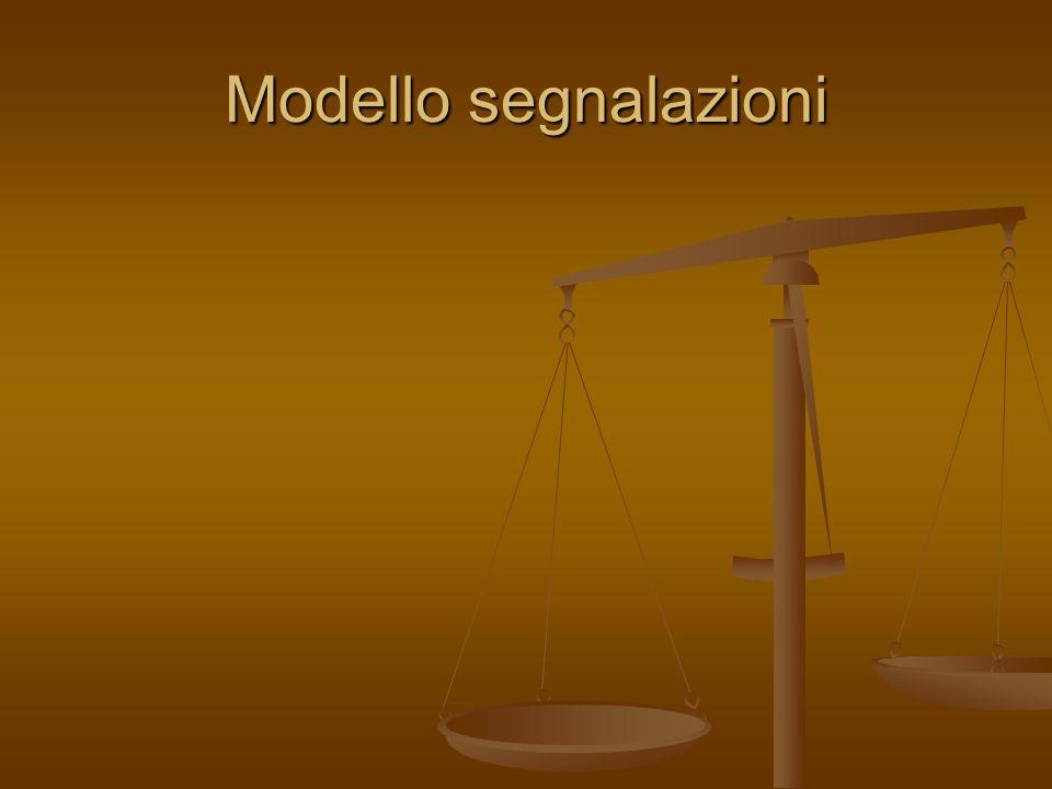 Modello segnalazioni