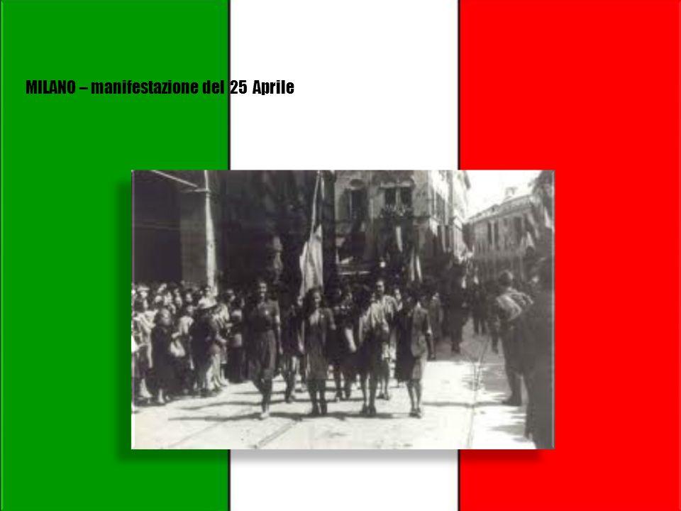 Il 25 aprile si celebra l'anniversario della liberazione d'Italia dalla occupazione dall'esercito tedesco e dal governo fascista avuta luogo nel 1945.
