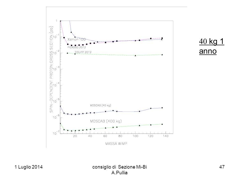 1 Luglio 2014consiglio di Sezione Mi-Bi A.Pullia 47  kg 1 anno