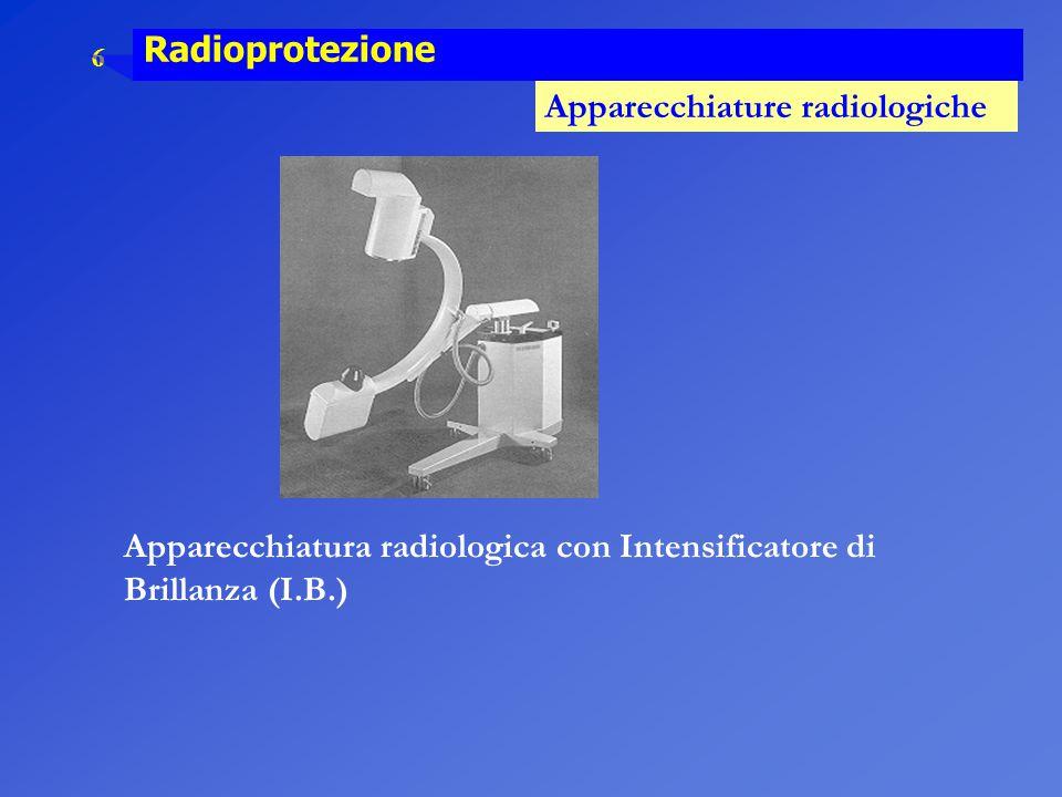 6 Radioprotezione Apparecchiature radiologiche Apparecchiatura radiologica con Intensificatore di Brillanza (I.B.)
