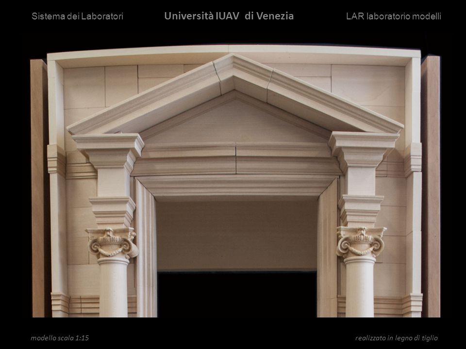 modello scala 1:15 Ricerca realizzato in legno di tiglio Sistema dei Laboratori Università IUAV di Venezia LAR laboratorio modelli